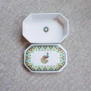 🦚Vera Bradley Peacock Collection Trinket Dish